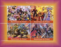 Chad 2018 CTO X-Men Storm Wolverine 4v M/S Superheroes Comics Stamps