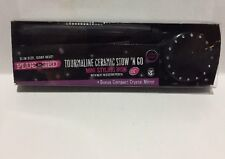Plugged-In Tourmaline Ceramic Stow 'N Go Mini Styling Iron w/ Pouch & Compact