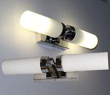LED Aufbauleuchte Wandleuchte Chrom Glas Bildleuchte Spiegelleuchte Mod. LOOK-10