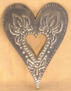 20cm Silver Coloured Metal Letter Open Heart
