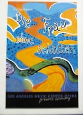 David Hockney Mini- Reprint Exhibition Poster L A  Opera DIE FRAU OHNE SCHATTEN