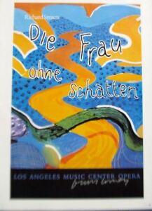 David Hockney Mini- Reprint Exhibition Poster L A  Opera DIE FRAU OHNE SCHATTEN