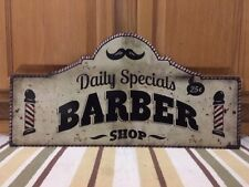 Barber Shop Specials Hair Mustache Cut Shave Nail Beauty Salon Vintage Style