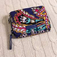 Vera Bradley Iconic RFID Card Case Romantic Paisley Blue Small Wallet NWT Exact