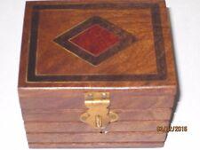 Inlaid Locked Box Magic Trick - Lippincott Watch Box STAGE Appears in Wood Box