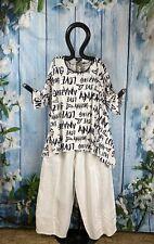 KAREN Big Shirt Buschstaben A-Linie schwarz weiß modisch EG