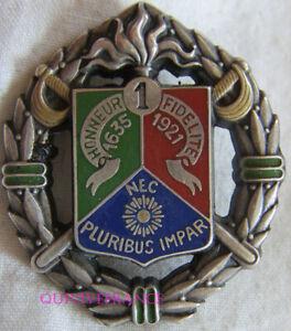 IN14432 - INSIGNE 1° Régiment Etranger de Cavalerie, rond, 2 pontets