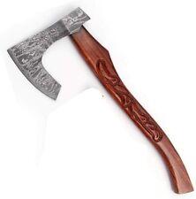 Hunt For Life Damascus Handmade Supreme Quality Bearded Axe, Wood Handle