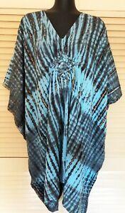 New Cool, Bali Boho Kaftan top Grecian Style plus size fits 16-24 Stunning Happy