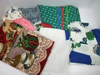 Lot of 7 Vintage Ladies Aprons - Christmas Sheer Floral - Excellent!!