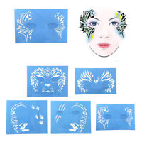 Reusable Face Paint & Airbrush Tattoo Stencils Body Painting Makeup Template