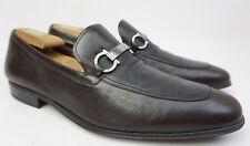 Salvatore Ferragamo Borges Apron Toe Bit Men's Brown Loafer Shoes Size 10.5 E.
