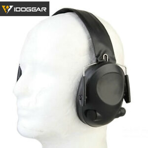 IDOGEAR Electronic Headset Ear Protection Noise Reduction TAC-6S Shooting Gear