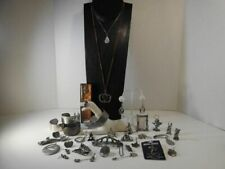 Pewter Jewelry + figurines spoon Most signed necklaces bracelets earrings etc