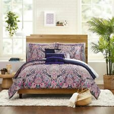 Full Size Mainstays Multi Medallion 10-Piece Bed in a Bag Set w/BONUS Sheets