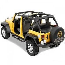 Jeep Wrangler JK 4t. Überrollbügel Polster Überrollbügelpolster schwarz Bestop