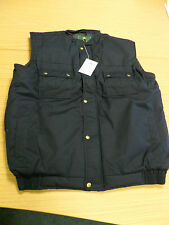 BLACK KNIGHT NAVY WINTER BODYWARMER GOLD POPPERS IN SIZES EX.LARGE & EX.EX.LARGE