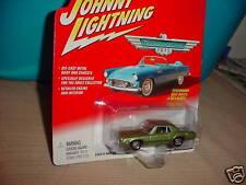 JOHNNY LIGHTNING 1968 FORD THUNDERBIRD OLIVE GREEN MIP FREE USA SHIPPING