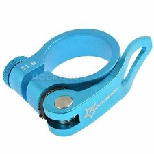 Rockbros Road Bike MTB Seatpost 31.8mm Blue Seat Post Clamp Quick Release QR