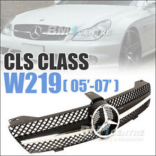 MERCEDES BENZ FRONT GRILLE FOR CLS CLASS W219 2005-2007 CLS350 CLS500 AMG BLACK