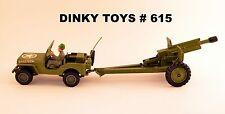 DINKY TOYS U.S. Willys Jeep mit 105 mm Howitzer Geschütz # 615  1:32