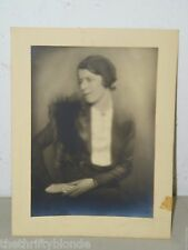 Vintage 1930' Society Photograph Photo Woman with Mink Stole 17564 Miss Martin