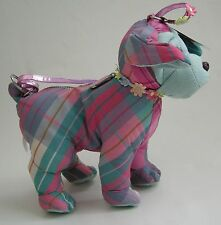 Girls Dog Puppy Purse Puparazzi Pink Blue Posable Fabric NWT Gift School  New