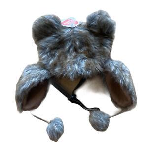 BOOTS & BARKLEY FAUX FUR WINTER DOG TRAPPER HAT SIZE Medium/Large Pet Costume