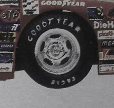 Parts - 1/25 5 Hole Chrome Rim W/ Raised Letter Goodyear Racing Tires