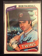 1980 Topps Bob Randall Blue Position Banner Variation Var #162 Error Twins