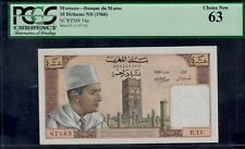MOROCCO  10  DIRHAMS  ( 1960 )  PICK # 54a PCGS 63  CHOICE NEW.