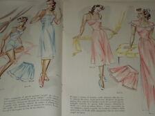 MODA -BIANCHERIA NUOVA  - ANNI '50- 70 MODELLI PRATICI ELEGANTI  BELLA- GRAFICA
