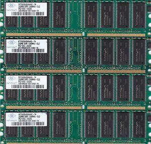 1GB 4x256MB DDR-266 NANYA RAM MEMORY KIT PC-2100 NT256D64S88AAG-7K DDR1