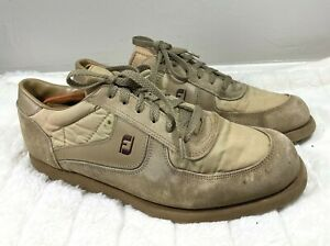 Footjoy Mens 59626 Beige Suede Leather Lace Up Low Top Golf Sneakers Shoes Sz 11