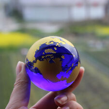 Crystal Glass  globe world map Feng shui  Crystals Sphere terrarium Desk Ornamen