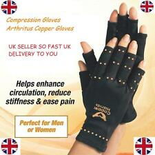 1 pair Men Women Black TV Copper Hands Arthritis Gloves Therapeutic Compression