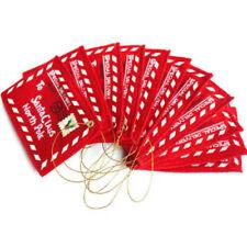 Christmas Santa Wish Letter Envelopes Red Felt Embroidered Key Tree Decor 10pcs