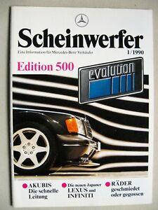 Prospekt INTERN Argumenter Mercedes EVO II Evolution 500 190 E 2.5-16 deutsch