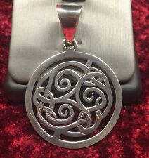 Silpada Sterling Silver Large Heavy Round Celtic Knot Pendant S1230