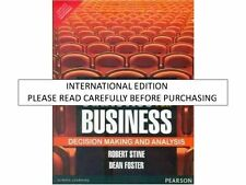 Statistics for Business : Decision Making and Analysis by Robert A. Stine and...