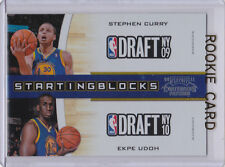 STEPHEN CURRY & EKPE UDOH ROOKIE CARD Playoff BASKETBALL Golden State Warrior RC