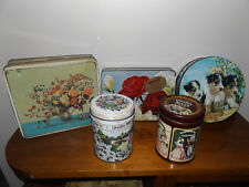 Collection of Biscuit Chocolate Sweets tin Peak Freans Quality Street Crawfords