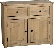 Seconique Panama Natural Wax Pine 2 Door 2 Drawer Sideboard