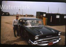 1965  kodachrome Photo slide  Chervrolet Car   Korea