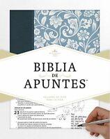 RVR 1960 BIBLIA DE APUNTES AZUL, PIEL GENUINA Y TELA IMPRESA