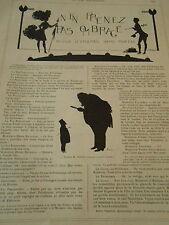 Ombrage Revue d'ombres sans portée Print Art Déco 1908