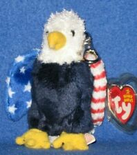 30b46145186 TY SOAR the EAGLE BEANIE BABY KEY CLIP - MINT with MINT TAG