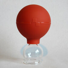 Schröpfglas Schröpfgläser 25 mm mit Saugball zum Feuerlos medizinisch Schröpfen