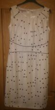 STUNNING JACQUES VERT ELEGANT MOTHER OF THE BRIDE DRESS CREAM with PURPLE DOTS
