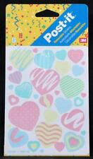 1993 New/Old Stock Post-It Two Sheet Sticker Package. Hearts
